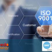 Emveedo Energy ISO 9001 announcement